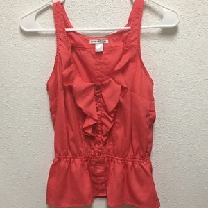 Body central 100% polyester red sleeveless